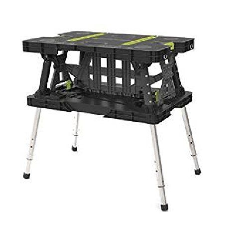 Keter 17200954 Folding Work Table EX with Extendable Legs and 2 C-Clamps Black/Green 700-LB > Portable and lightweight , Extendable legs adjust to the needed height Two removable C-Clamps to hold down your project Ample work space , Provides an ample work space ,Easy to clean ,Rust proof Check more at http://farmgardensuperstore.com/product/keter-17200954-folding-work-table-ex-with-extendable-legs-and-2-c-clamps-blackgreen-700-lb/