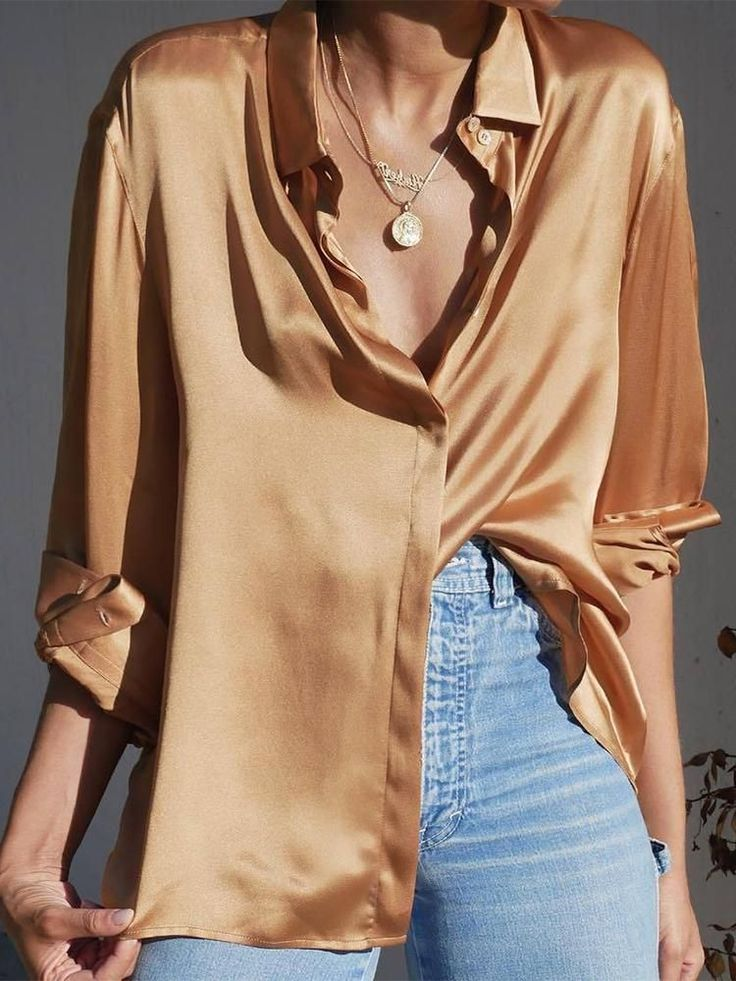 Sexy V Neck Long Sleeve Pure Colour Blouse Product Sexy V Neck Long ? Sleeve Pur…