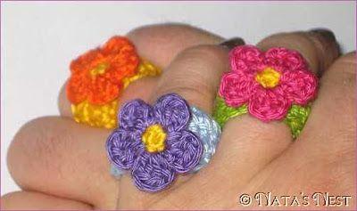 Floral Ring / Flower Ring - Free Pattern