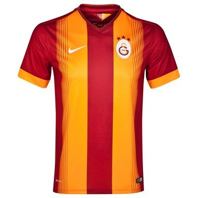Galatasaray 2014/2015 Home Shirt (Red). Available from Kitbag.com