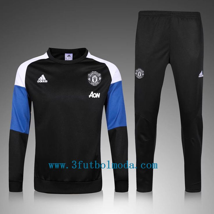 2016-17 manchester united blue and black tracksuits,free shipping on www.esfutbolmoda.com, lowest price