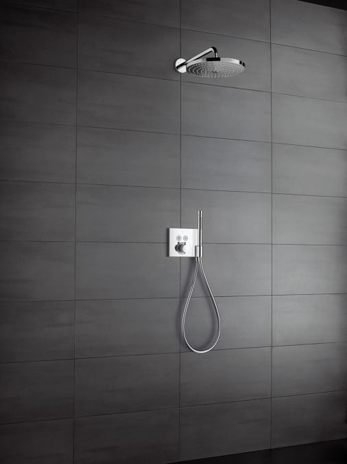 ShowerSelect - ShowerSelect thermostatic mixer for concealed installation for 2 functions with FixFit and Porter unit | Hansgrohe United Kingdom