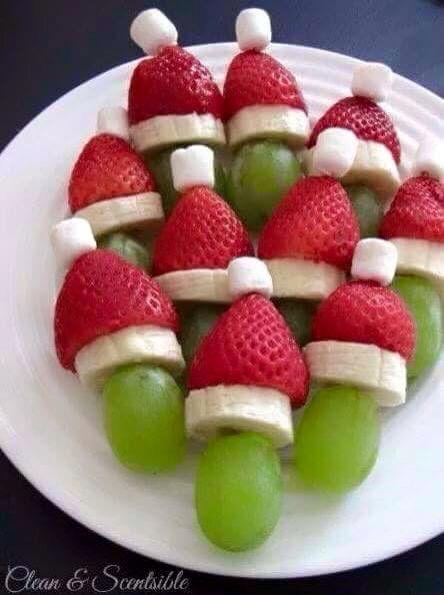 Fruit kerst mannetjes