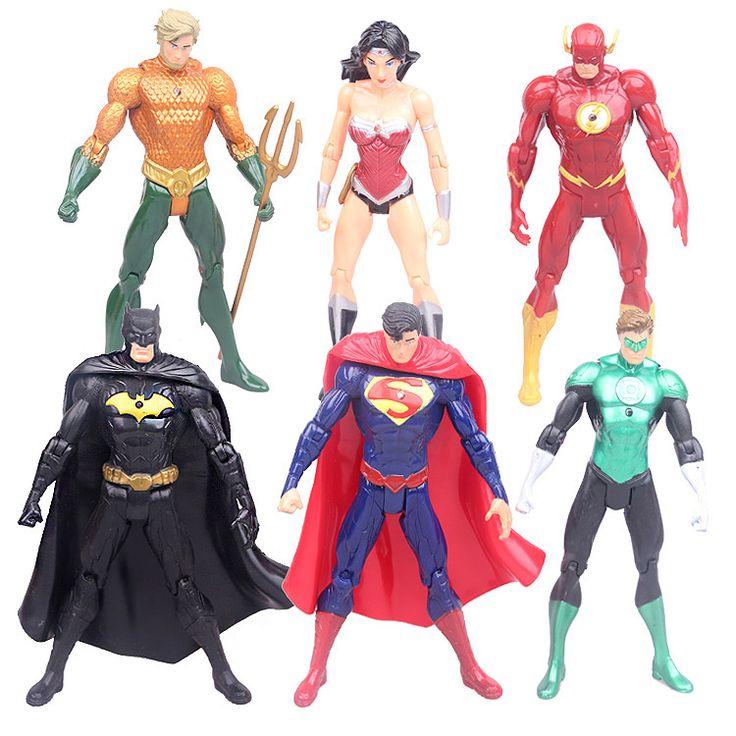 Set 6 Justice League Superman Batman Flash Aquaman DC Universe action Figures  #Affiliate