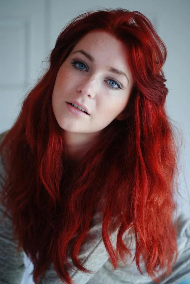 Natural redhead with pale skin
