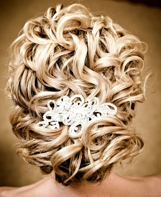 Bride's gorgeous loose blonde curls chignon bridal hair ideas  Toni Kami Wedding Hairstyles ♥ ❶ Beautiful wedding hairstyle