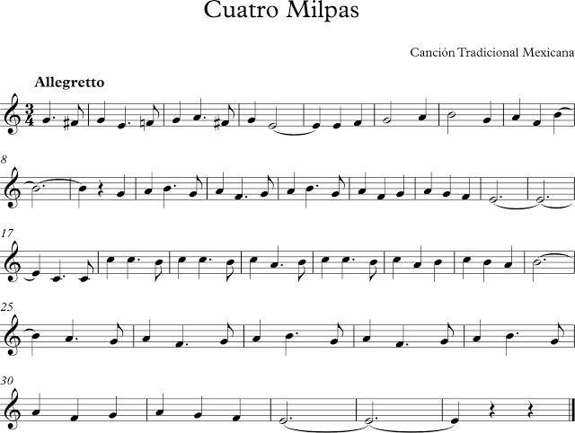 Cuatro Milpas. Canción Tradicional Mexicana.