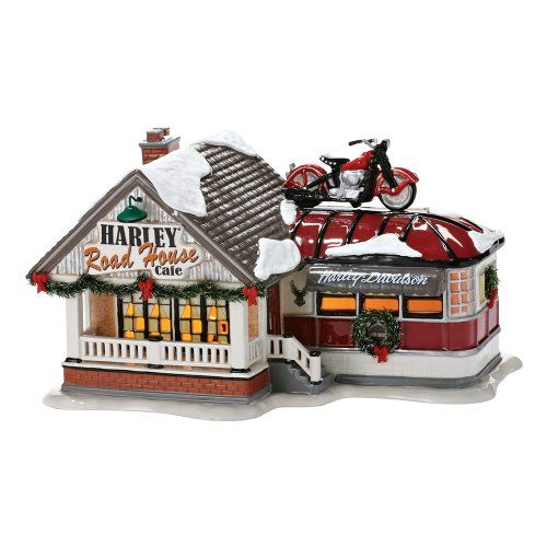 Department 56 Snow Village Harley Road House Cafe $114.99