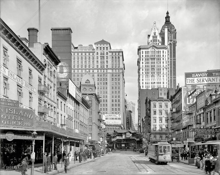 "1908 | New York . "" Cortlandt Street """