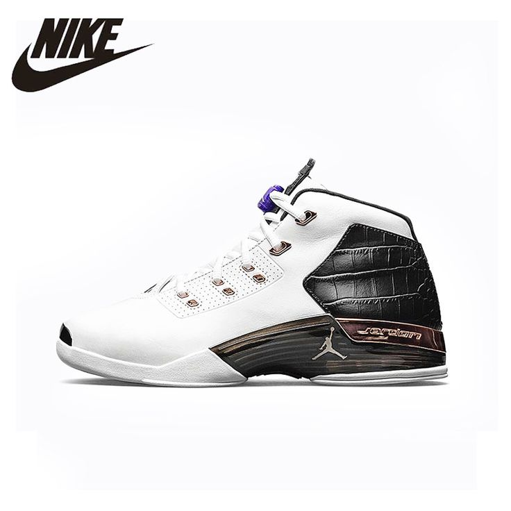 NIKE Original 2016 New Arrival AIR JORDAN 17 Mens Basketball Shoes Breathable Professional Stability Sneakers #832816-122 #Affiliate