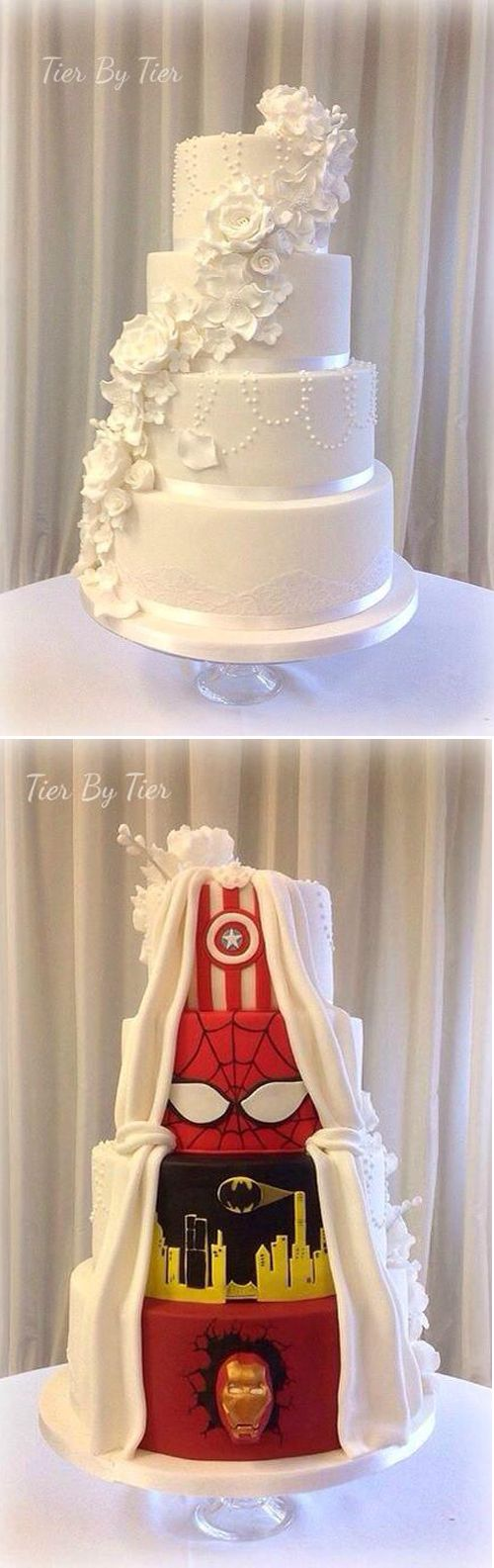 This wedding cake got the best of both worlds