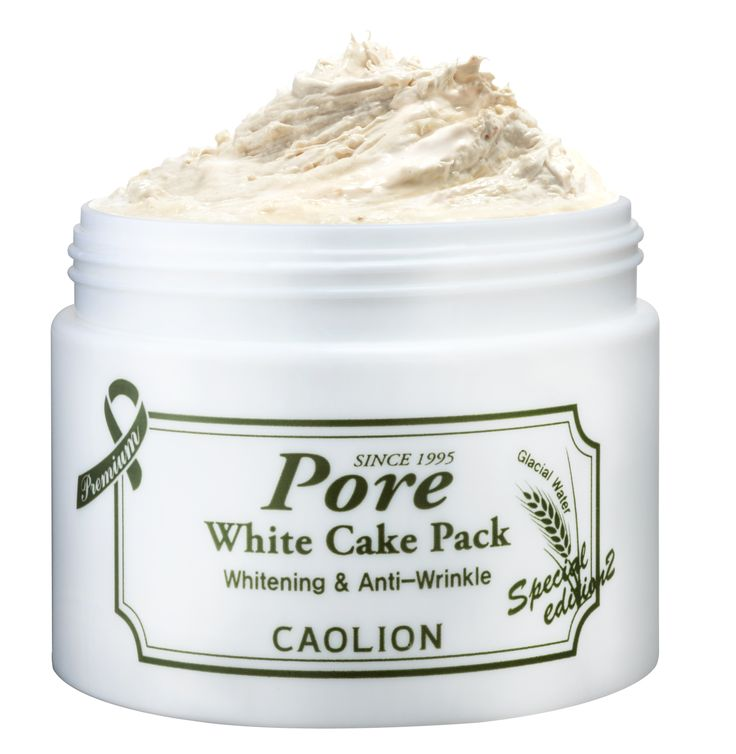 White Cake Pore Pack Premium  : Revives unbalanced, congested skin with radiance and elasticity  #caolion #caolionusa #nature #natural #skin #skincare #white #cake #masque #mask #pack #glacier #rice #clay #pomegranate #mulberry #korea #seoul #usa
