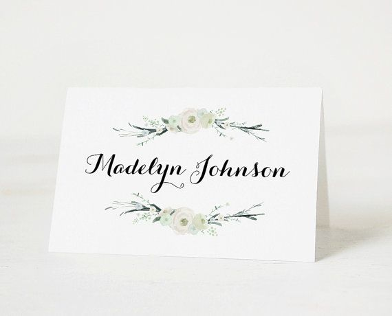 template for place cards