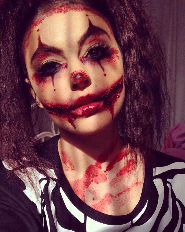 Creepy clown Halloween makeup Instagram jessiikaxmua