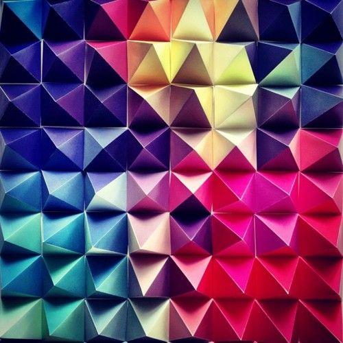 #Pyramids: Rainbows Colors, Origami Paper, Bright Colour, Colors Design, Rainbows Origami, Matthew Lew, Colors Pallette, Colour Palettes, Paper Crafts
