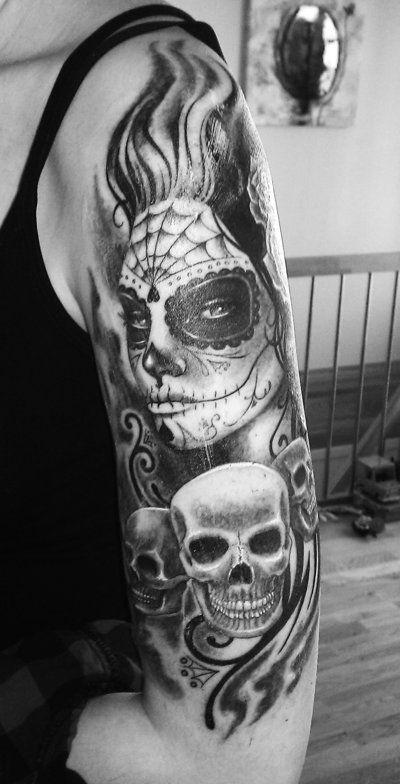 Dia de los muertos tattoo by konan666angel on deviantart for Dia de muertos tattoos