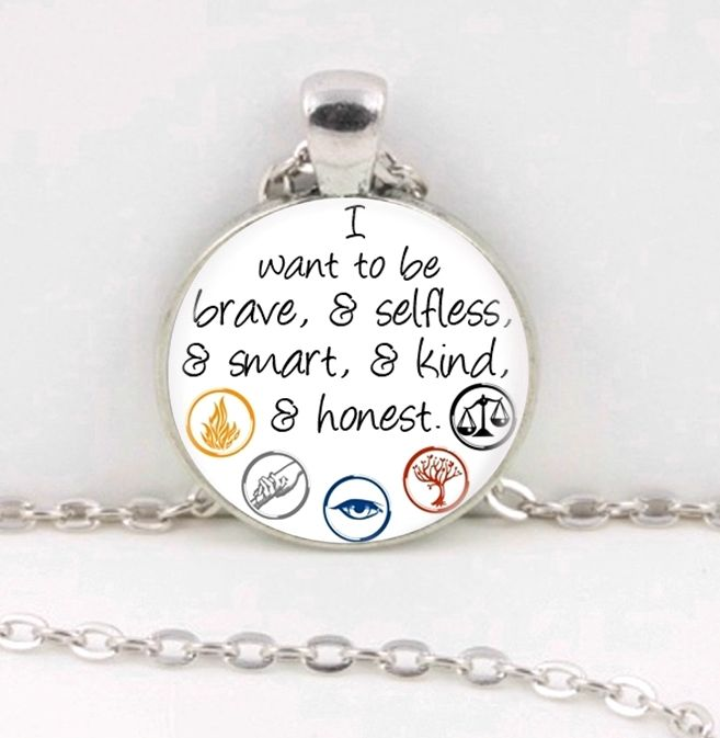 If you LOVE The Divergent Trilogy ..than you will love this FANtastic necklace. *It measures aprox (1 inch) across and comes on a 20 inch cable chain with a lobster clasp closure