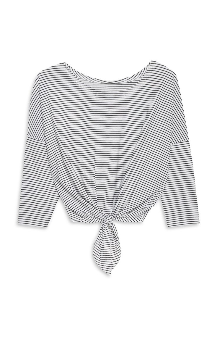 Primark - Zwart-wit gestreept knoopshirt