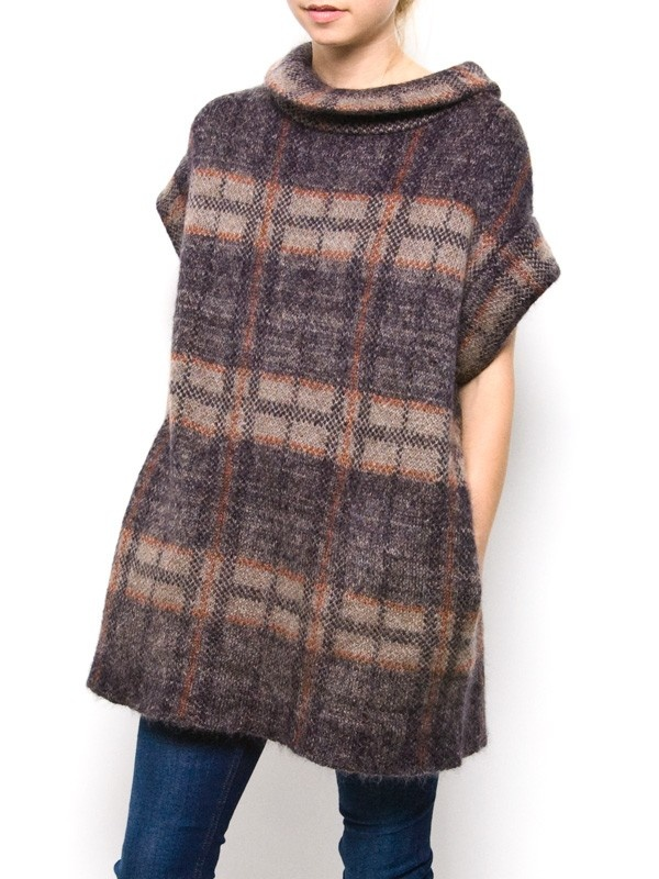 United Bamboo Plaid Knit Dress. Cute dress/tunic. A possible pattern for something on the pin loom?