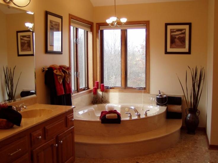 Love the corner garden tub in the bathroom for Corner garden tub