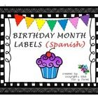 """Bulletin board birthday headers, birthday month labels, and """"frames"""" for writing in students' birthdays.  This will allow you and your students to ..."""