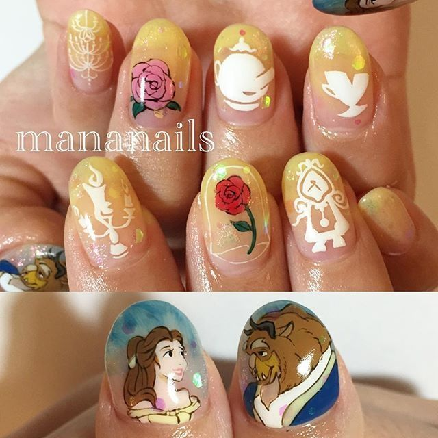 Beauty and the Beast manicure via IG: mananails