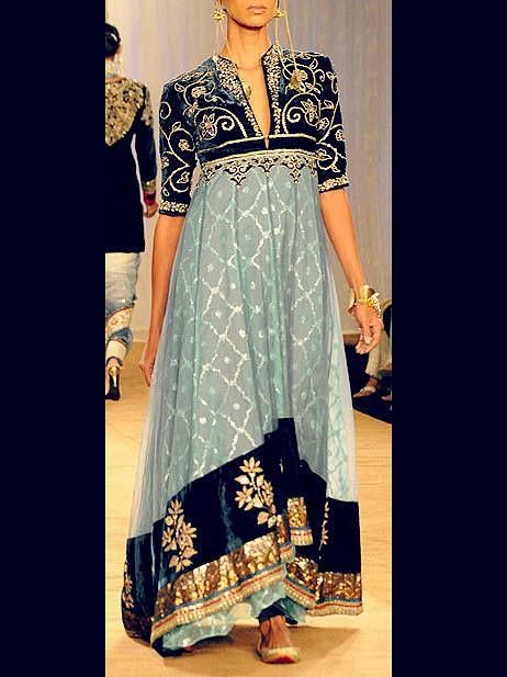 Net & Velvet Anarkali Dress : Online Shopping, - Shop for great products from India with discounts and offers, Indian Clothes and Jewelry Online Shop