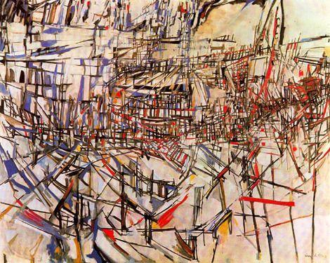 Maria Elena Vieira da Silva, La bataille des rouges et bleus on ArtStack #maria-elena-vieira-da-silva #art