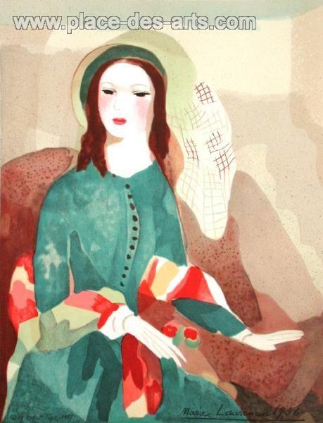Camille, Lithographie, du peintre, Marie, LAURENCIN, Signée dans la planche