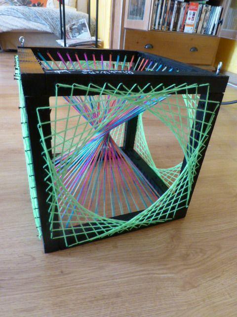 Cube String Art 3D Fils Tendus UV