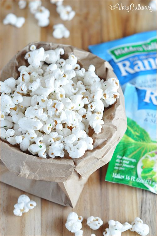 Take popcorn to the next level with just three simple ingredients, using butter, ranch seasoning, and dill.