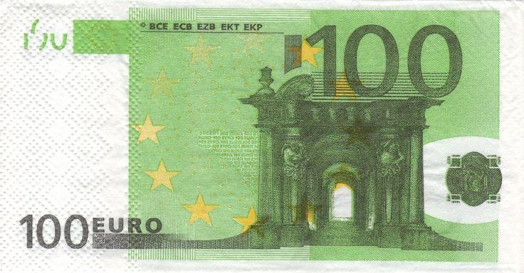 Serviette en papier Billet de 100 euros  Serviettage Dcopatch par pjossely  SAYAG