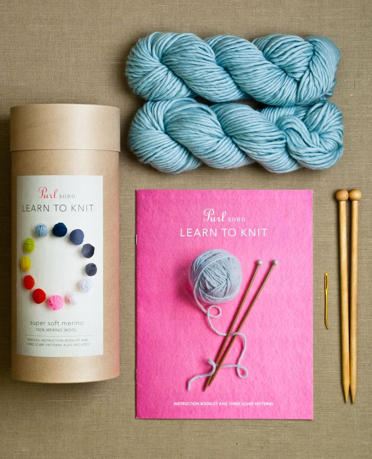 Learn to Knit Kit from Purl Soho: Just because it's your first scarf doesn't mean you can't appreciate the tactile delight of beautiful 100% merino! That's why we equipped our Learn To Knit kits with two gorgeous skeins of Super Soft Merino, enough to knit up an equally gorgeous scarf! Inside each kit you will find everything you need to knit: 2 skeins of Purl Soho's Super Soft Merino (choose from 12 colors!); a pair of birch knitting needles, US size #13; a yarn needle for finishing; and an…