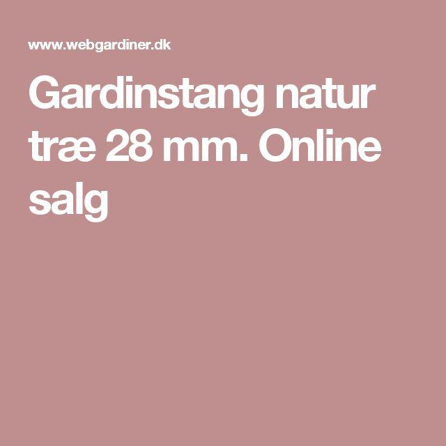 Gardinstang natur træ 28 mm. Online salg