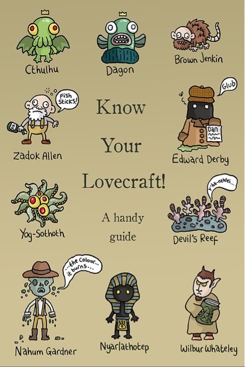These are such adorable renditions of Lovecraft's beasties!