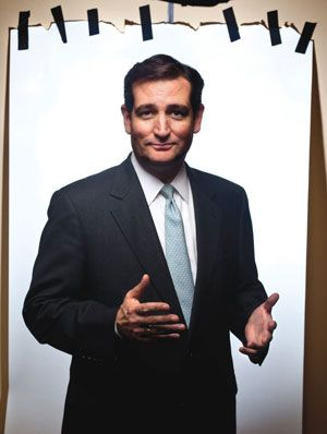 "Tea Party boy Ted Cruz (R-TX) is ""The Republican Barack Obama.""(Photograph by Benjamin Sklar)"