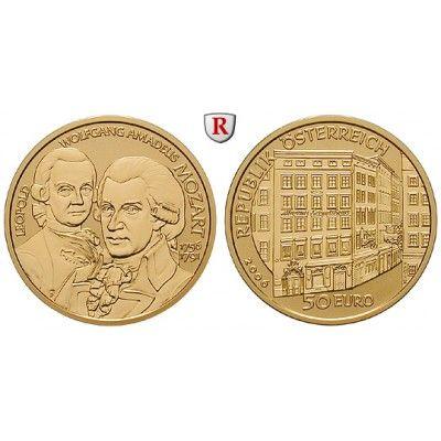 Österreich, 2. Republik, 50 Euro 2006, 10,0 g fein, PP: 2. Republik seit 1945. 50 Euro 10,0 g fein, 2006. Große Komponisten -… #coins