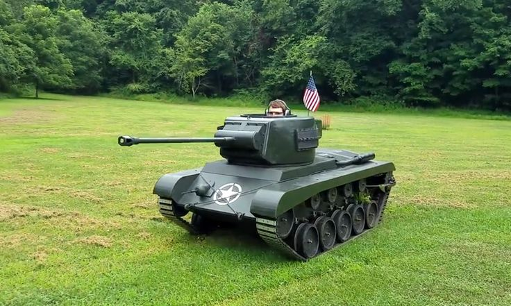 High School Student Builds a Drivable 40% Scale WWII Era M26 Pershing Tank