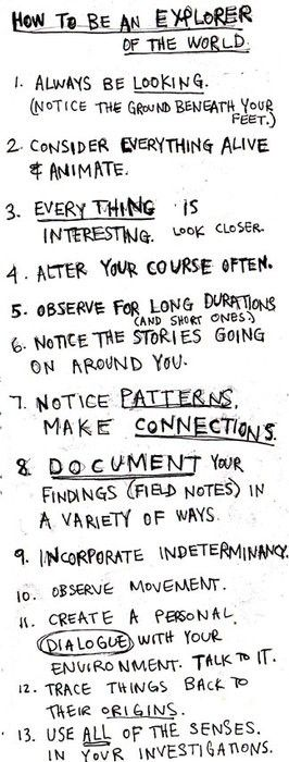 How to be an explorer. #adventure