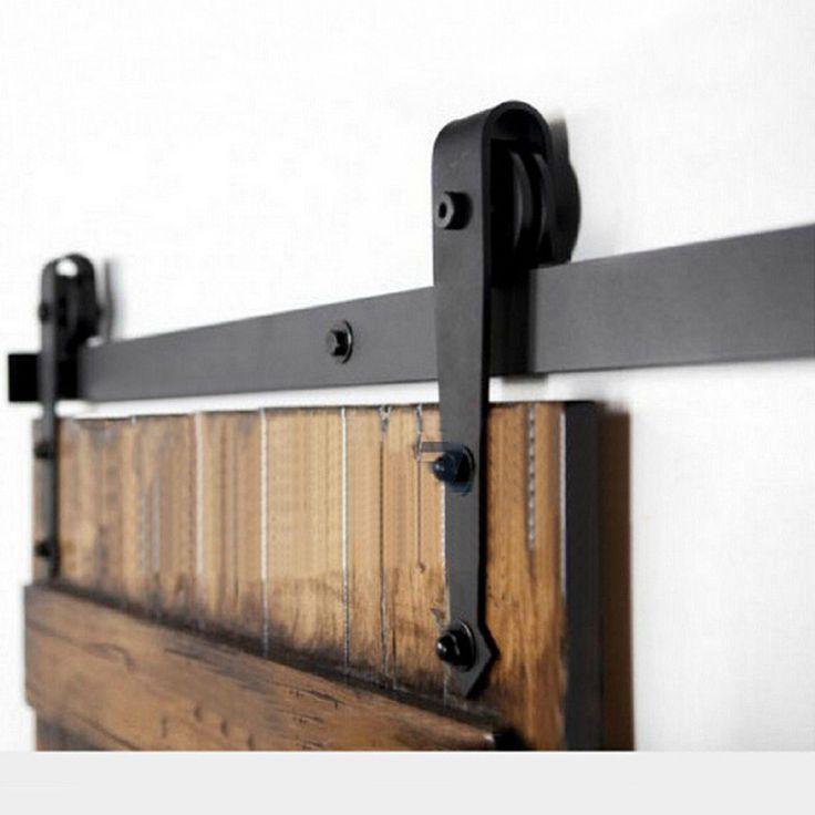 Portes de bois porte coulissante matériel accessoires, Américain grange portes poulie coulissant rail de porte et penderie système 1.5 / 2 / dans Charnières de porte de Amélioration de l'habitat sur AliExpress.com | Alibaba Group