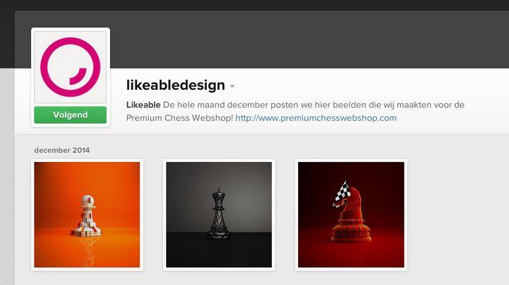 #LikeableDesign sinds zit december 2014 ook op #Instagram