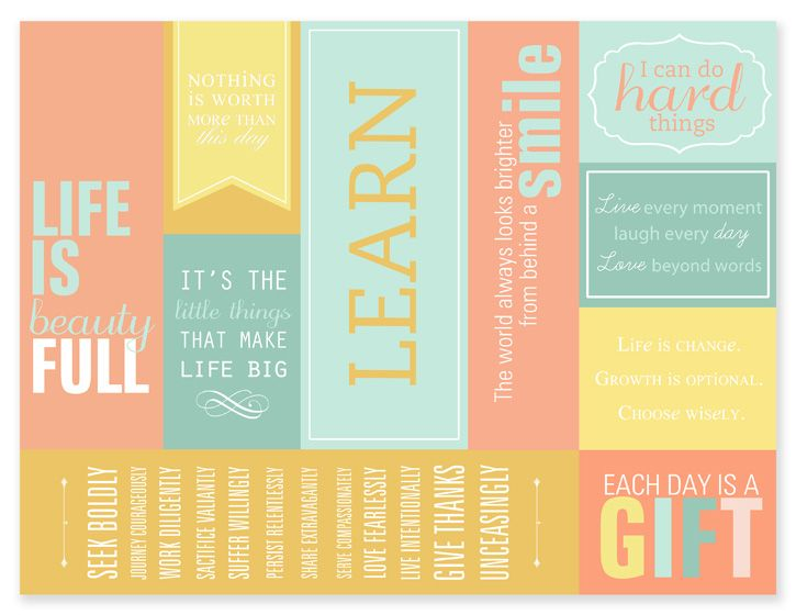 DIY : Free Bookmark Printables with Inspirational Quotes