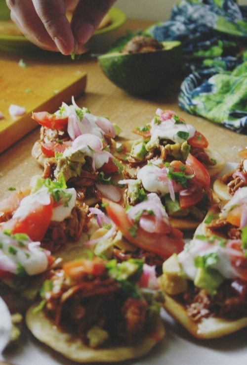 Salbutes (sahl-BOO-tehs) - are similar to panuchos but they do not have beans inside the tortilla. They are also fried and topped with the same thing.There are many variations of the toppings in salbutes. Less crispy than panuchos.