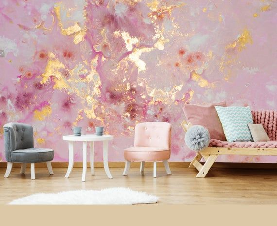 Extra große 8ft x 8ft / 244cm x244cm *** rosa lila Gold Marmor Tapete Wandaufkleber Dekor Decke Wandbild selbst Klebstoff Exklusivdesign