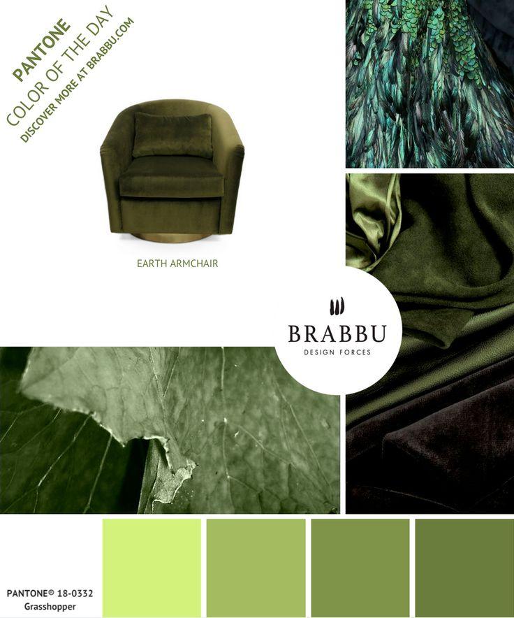 @pantonecolor Color of the Day: Grass Hopper | Mood Boards. Color Trends. #colors #pantone #moodboard #interiordesign Discover more at: https://www.brabbu.com/moodboards/