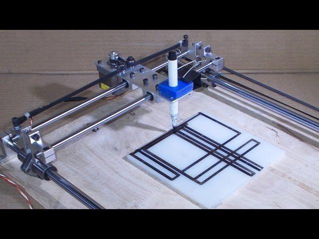 Homemade laser engraving plotter arduino nano driver