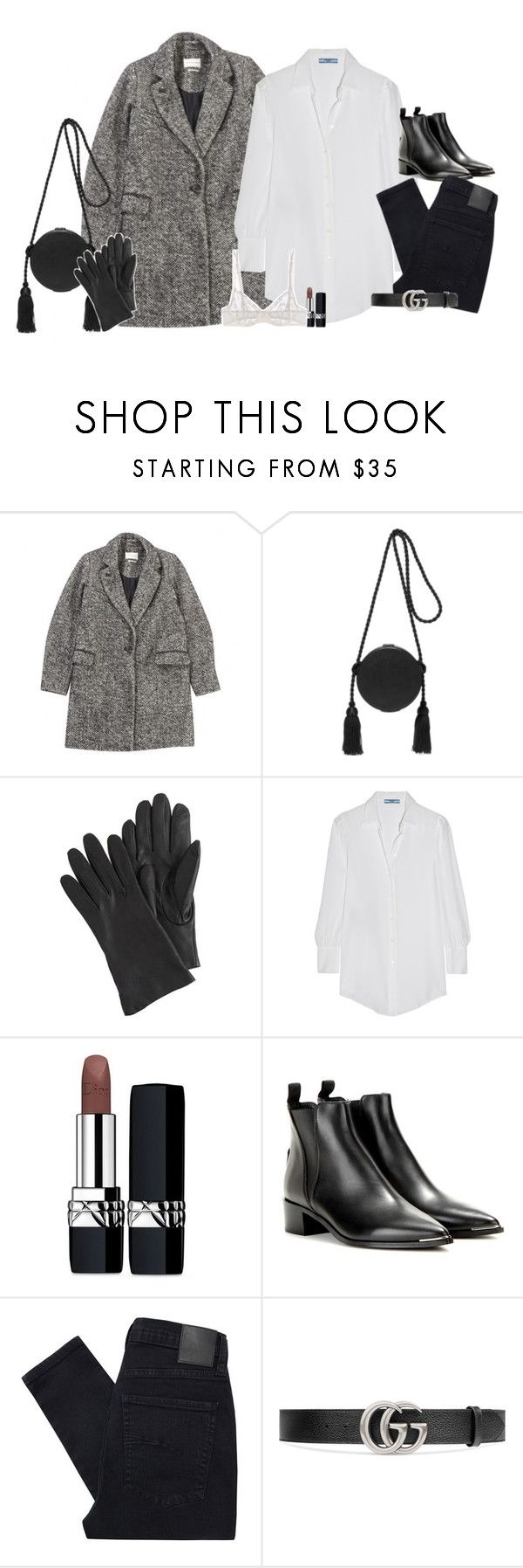 """""""Set 658 -"""" by xjulie1999 ❤ liked on Polyvore featuring Étoile Isabel Marant, Hillier Bartley, J.Crew, Prada, Christian Dior, Acne Studios, Nobody Denim, Gucci and La Perla"""