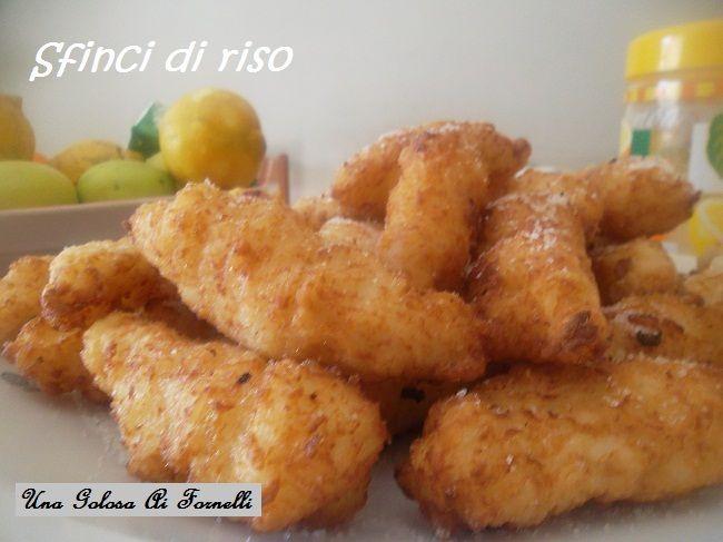Per carnevale provate queste frittelle di riso, sfinci di riso in siciliano, tipici dolci fritti carnevaleschi.