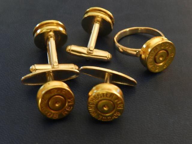 Gemelos y anillo de culatines de bala y plata acb.rural@gmail.com