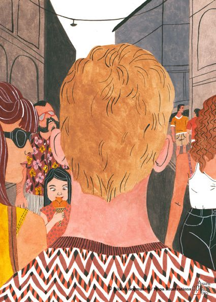 Illustration by Riikka Sormunen for Yellow City – Illustrated stories from Helsinki